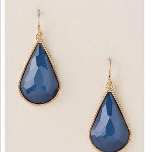 Francesca's Blue Teardrop Earrings